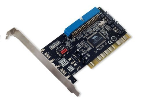 Portable & Gadgets Syba SD-VIA-1A2S Combo IDE(1)/SATA(2) PCI Card Software RAID, VIA VT6421A by Portable & Gadgets