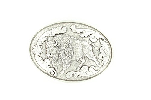 [Nocona Men's Buffalo Buckle Silver One Size] (Buffalo Buckle)
