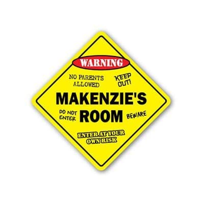 MAKENZIE'S ROOM Sticker Sign kids bedroom decor door children's name boy girl gift - Sticker Graphic Personalized Custom Sticker Graphic: Automotive