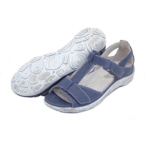 Waldläufer Damen Leder Schuh Sandale blau 4,5 / 37 Weite H