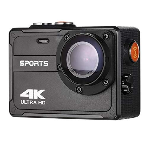4K Action Camera, Vmotal 16MP WiFi Waterproof Sports Action Camera, 5M Underwater Camera with 150°Degree Wide Angle Lens/No Housing Needed (Black)
