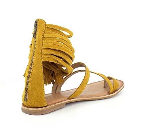 Campbell Glady Jeffrey Mustard Womens Suede Sandal Sq4wax4