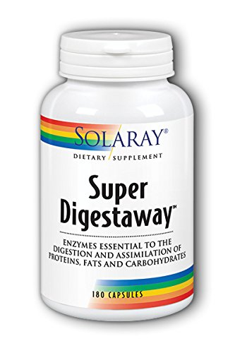 Solaray Super Digestaway Capsules, 180 Count For Sale