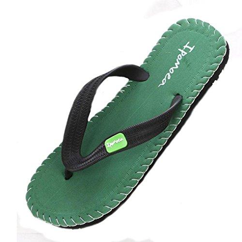 SKO Men Green & Tan Shoe Style Leather Sandals