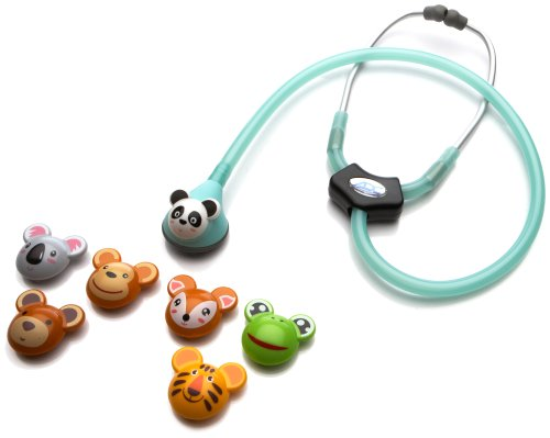 ADC-Adscope-Adimals-618-Pediatric-Stethoscope-with-Tunable-AFD-Technology-30-inch-Length-Seafoam