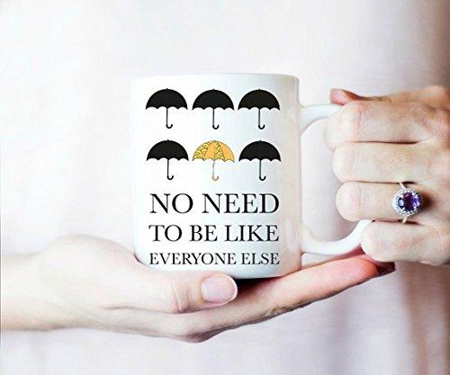 Umbrella Academy Mug, Be Different Mug, Coffee Mug Gift, Inspirational Coffee Mug, Motivational Mug, Amazing White Ceramic 11OZ or 15OZ mug (Umbrella Academy Mug)