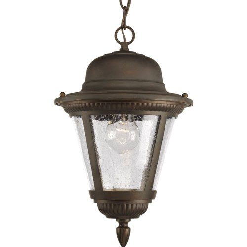 Progress Lighting P5530-20 1-Light Hanging Lantern, Antique Bronze 20 Westport 1 Light