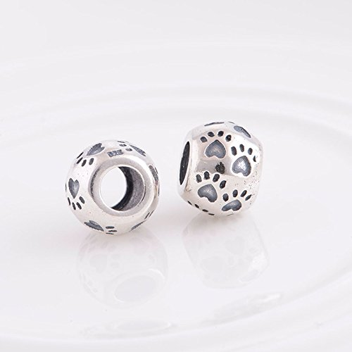 The Kiss Pet Lover Dog Paw Woof With Clear Cz 925 Sterling