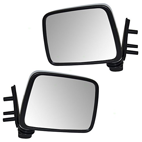 Driver and Passenger Manual Side View Mirrors with Chrome Covers Replacement for Nissan SUV Pickup Truck NI1320109 (Pickup Chrome Manual Mirror)