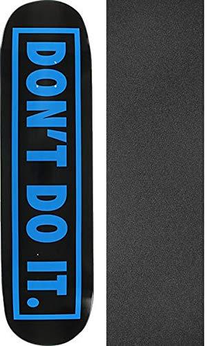 統計的性差別感性ConsolidatedスケートボードないDo Itブラック/ブルースケートボードデッキ – 8 x 31.6 CMでMob Grip Perforated Griptape – 2アイテムのバンドル