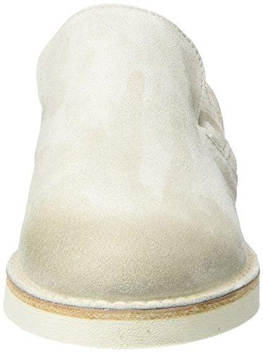 Slipper Shabbies Mujer Shabbies Blanco para Mocasines Amsterdam Off Velourleder White qEqxSwr
