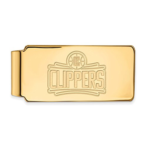 NBA Los Angeles Clippers Money Clip in 14K Yellow Gold by LogoArt