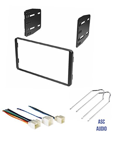 ASC Car Stereo Radio Install Dash Kit, Wire Harness, and Radio Tool to Install a Double Din Aftermarket Radio for select Ford Lincoln Mazda Mercury Vehicles - Compatible Vehicles Listed Below (Install Dash Kit Din)
