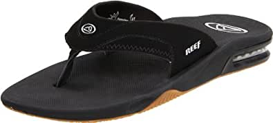 Reef Men's Fanning Thong Sandal,Black/Silver,16 M US