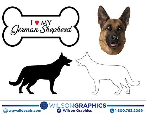 - German Shepherd - Dog Breed Decals (Set of 16) - Sizes in Description
