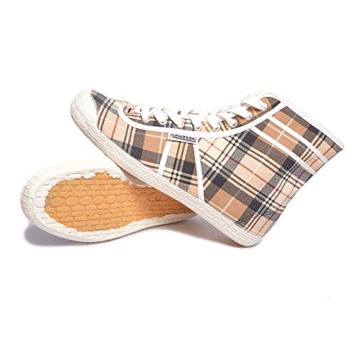 Kawasaki scarpe unisex tela 212501 beige quadretti