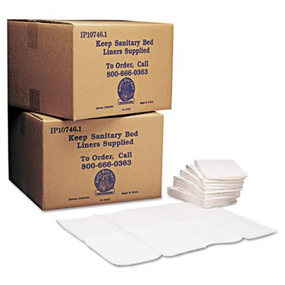 Baby Changing Station Sanitary Bed Liners, White, 500/Carton, Sold as 2 Carton, 500 Each per Carton