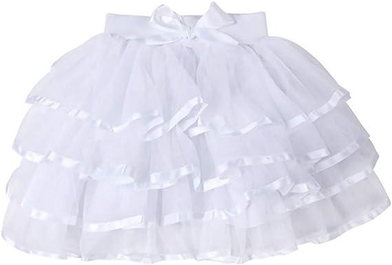 storeofbaby Petites Grandes Filles Tulle Tutu Jupe 4 Couches Jupe de fête habillée 2 13 Ans