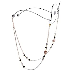 Mini Tree Necklace Eyeglass Chain Beaded Eyeglass Holder Sunglasses Strap and Cords for Women (gold)