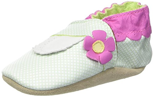 Jack & Lily Originals MJ Flower Line - Zapatillas de piel super divertidas y coloreadas, talla 12-18 meses, multicolor