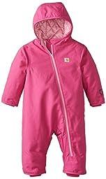 Carhartt Baby Girls\' Quick Duck Snowsuit, Pink Thistle, 18 Months
