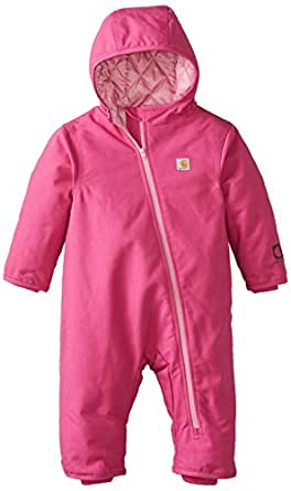 Amazon.com: Carhartt Baby Girls' Quick Duck Snowsuit, Pink