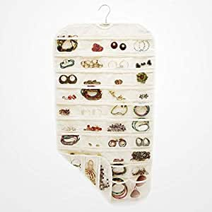 Jewelry Storage Bags Double Side Non-woven Bags Hanging Bag Jewelry Storage Box - Beige