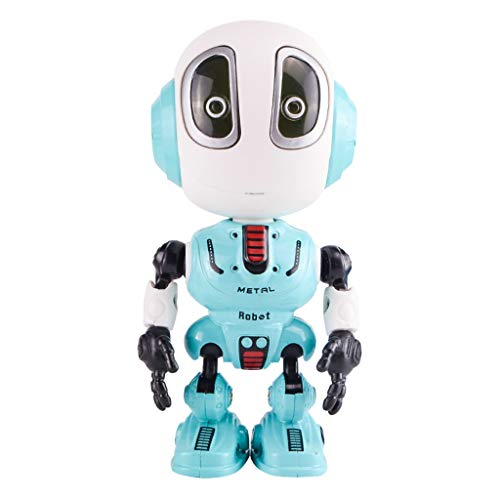 Kids Interactive Robot Toy, Witspace Boys Girls Talking Repeating 360°Rotation Mimic Toys Gift (Blue)
