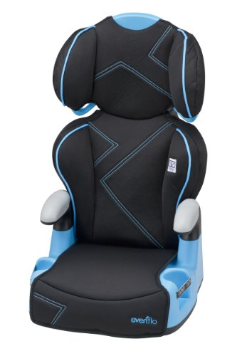 Sale!! Evenflo AMP High Back Car Seat Booster, Blue Angles