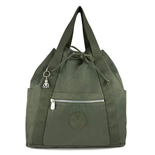 Kipling Art Medium Tote Backpack Rich Green
