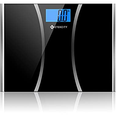Etekcity Ultra Wide Digital Body Weight Scale, Tempered Glass, 440 Pounds