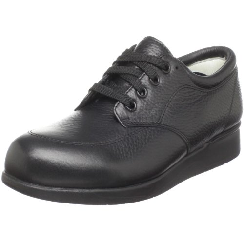 Drew Shoe Womens New Villager Lace-up Oxford, Black Soft Pebble, 9 Xw Us