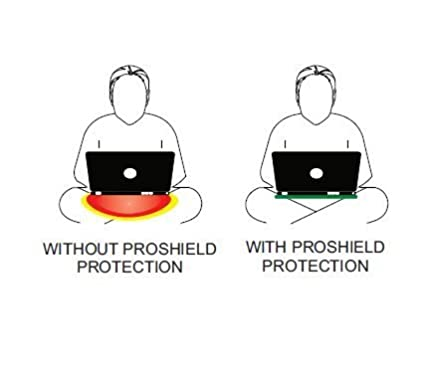 Color: Black EMRSS Proshield Radiation-Free Laptop Tray for Protection Against EMF