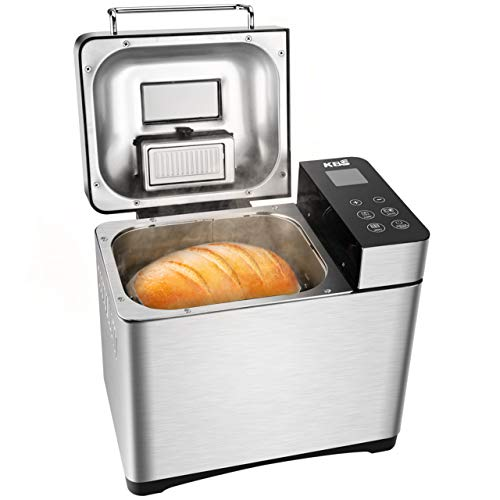KBS Bread Machine, Automatic 2LB Bread Maker with Nuts Dispenser, SS Deal (Large Image)