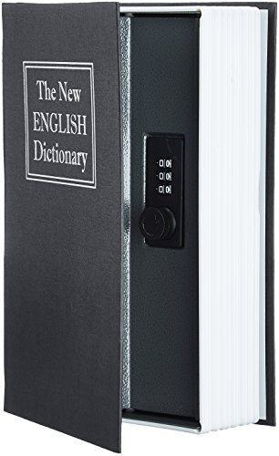AmazonBasics Book Safe, Combination Lock, Black]()