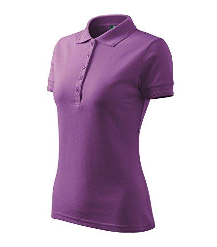 Polohemd Poloshirt für Damen Pique Polo 200 lila Größe wählbar