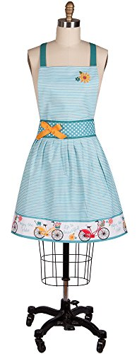 Kay Dee Designs Enjoy The Ride Bike & Floral Embroidered Hostess Apron