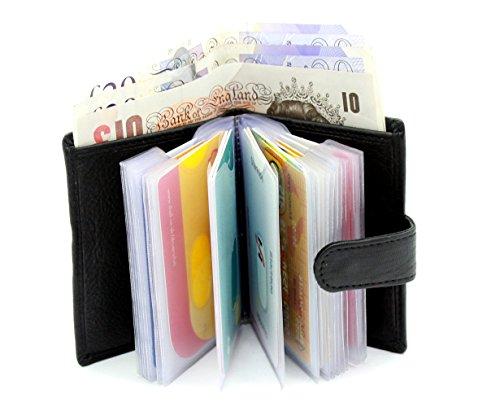Banque Carte Portefeuille Pour Transparent Billet Cuir 20 De Noir 4 Plastique Crédit Black Fentes En Poches Ras® Souple Compartiment Cartes 601 avec Autres Véritable f0x5waaq1
