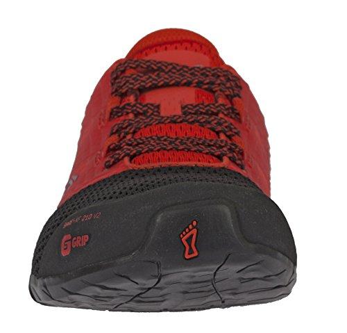 Inov-8 Mens Bare-XF 210 V2 - Barefoot Minimalist Cross Training Shoes - Zero Drop - Wide Toe Box - Versatile Shoe for Powerlifting & Gym - Calisthenics & Martial Arts - Black/Red 8 M US by Inov-8 (Image #6)