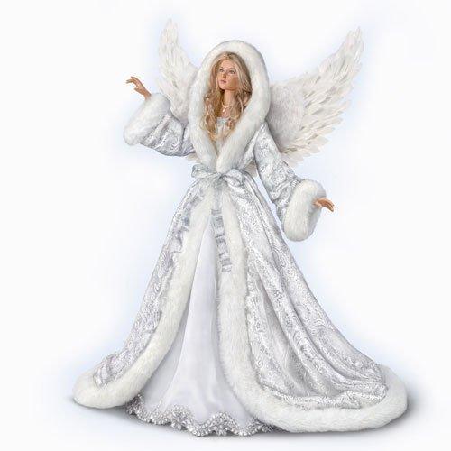 Porcelain Angel Doll - Illuminated Silent Night Angel Poseable Musical Porcelain 24