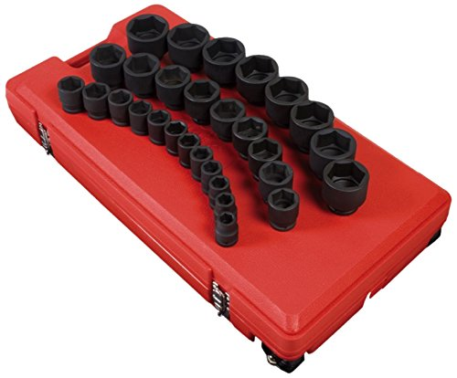 Sunex 4696 3/4-Inch Drive SAE Master Impact Socket Set, Standard, 6-Point, Cr-Mo, 3/4-Inch - 2-7/17-Inch, 29-Piece from Sunex Tools