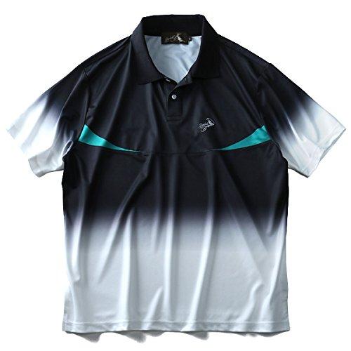 グラデーション 半袖 ゴルフ ポロシャツ 大きいサイズ メンズ スポーツポロ 2L 3L 4L 5L 6L Bowerbirds Works