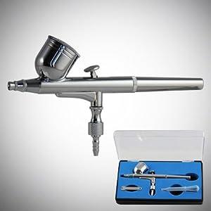 GotHobby 0.3mm Gravity Feed Dual-Action Airbrush Paint Spray Gun Kit Set 1