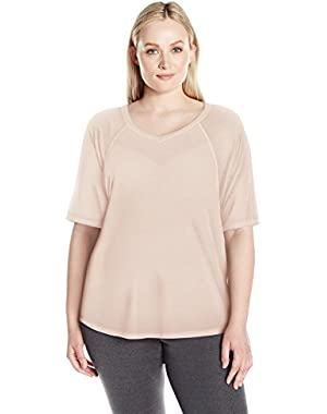 Performance Women's Plus Size Ballet Sleeve Batwing Top
