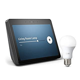 Echo Show (2nd Gen) Bundle with free Philips Hue Bulb - Charcoal (B07H1786ZC) | Amazon Products