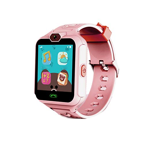 Fan-Ling Children's Phone Smart Watch Mobile Phone Waterproof Touch Screen,Multifunction Smartwatch,Camera, SOS, Alarm Clock (Pink)