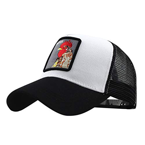 FEDULK Unisex Animal Embroidered Baseball Caps Mesh Breathable Adjustable Outdoor Casual Relaxed Fit Dad Hat(Gray) ()