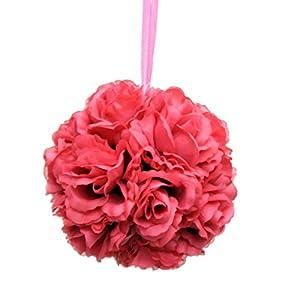 Kissing Pomander Balls Wedding, Bouquets, Decor (Beauty (Dark Pink)) 8