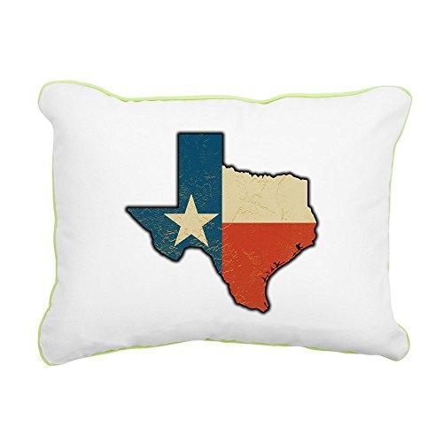 Rectangular Canvas Throw Pillow Key Lime Texas Flag Texas Shaped ()