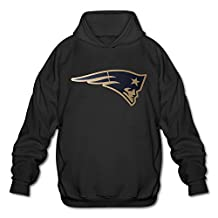 Men's New England Patriots Championship Drive Gold Collection Performance Hoodie XL Black
